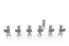3d man group of painter concept Royalty Free Stock Photos