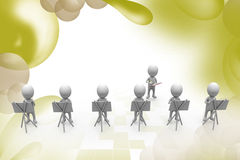 3d man group of painter  illustration Stock Photos