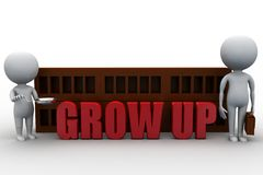 3d man grow up concept Stock Image