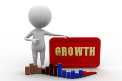 3D man growth concept Stock Image