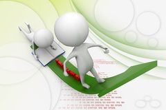 3d man growth of education illustration Stock Photography