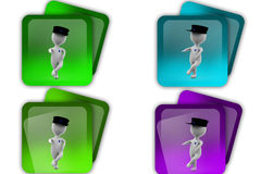 3d man guard icon Royalty Free Stock Photo