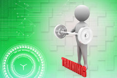 3d man gym training Illustration Royalty Free Stock Images
