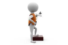 3d man with hammer stand concept Royalty Free Stock Photos