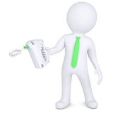 3d man with hand mixer. 3d man with a hand mixer.  render on a white background Royalty Free Stock Photo