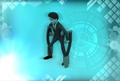 3d man handicapped illustration Royalty Free Stock Photography