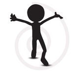 3d man with hands open. On white Stock Image