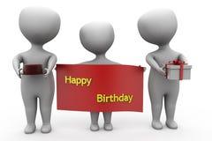 3d man happy birthday concept Stock Photography