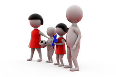 3d man happy family concept Stock Images