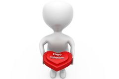 3d man happy valentine concept Royalty Free Stock Images