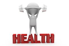 3d man health concept Stock Images