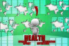 3d man health illustration Stock Photo