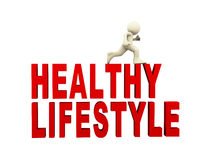 3d man and healthy lifestyle concept Royalty Free Stock Photos