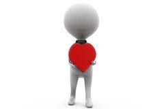 3d man heart concept Stock Photo