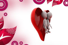 3d man heart couple illustration Royalty Free Stock Photo