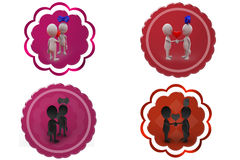 3d man heart icon Royalty Free Stock Image