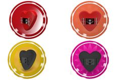 3D Man heart window concept icon Stock Images