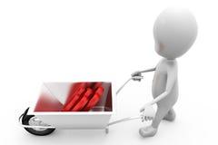 3d man hearts cart concept Stock Image