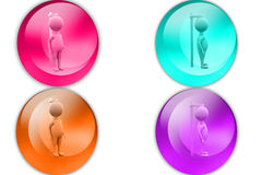 3d man height icon Royalty Free Stock Photography
