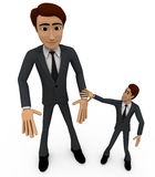 3d man helping hand concept Royalty Free Stock Photography