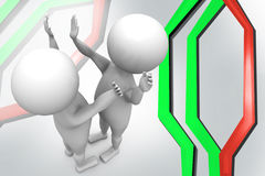 3d man high five illustration Stock Photography