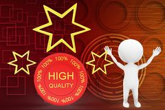 3d man high quality illustration Royalty Free Stock Photos