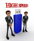 3d man high speed usb concept Stock Photography