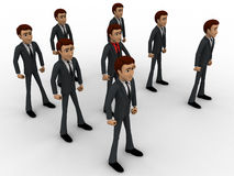 3d man with his bodyguard around him concept Stock Image