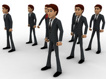 3d man with his bodyguard around him concept Royalty Free Stock Photos