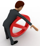 3d man hit by stop symbol concept Royalty Free Stock Images