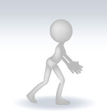 3d man in hold position Royalty Free Stock Photography