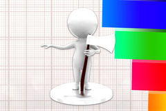 3d Man Holding Axe Illustration Stock Image