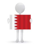 3d man holding a Bahrain Flag Royalty Free Stock Photo