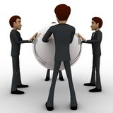 3d man holding big globe concept Royalty Free Stock Photography