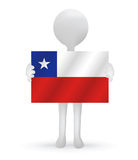 3d man holding a Chile flag. Small 3d man holding a Chile flag Stock Photo