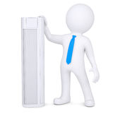 3d man holding a conditioner. Royalty Free Stock Image
