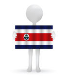 3d man holding a Costa Rica flag Stock Photos