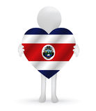 3d man holding a Costa Rica flag Royalty Free Stock Photo