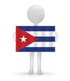 3d man holding a Cuban Flag. Illustration -small 3d man holding a Cuban Flag Stock Photography