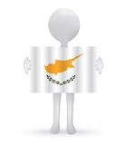 3d man holding a Cyprus Flag. Small 3d man holding a Cyprus Flag Stock Photo