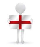 3d man holding a England flag. Small 3d man holding a England flag Stock Photos