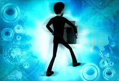 3d man holding file concept Royalty Free Stock Photography