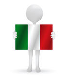 3d man holding a Italy flag Stock Photography
