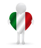 3d man holding a Italy flag Stock Photo