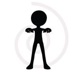 3d man holding an object for giving message Royalty Free Stock Image