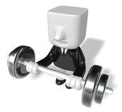 3d man holding their barbell together Royalty Free Stock Photos