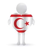 3d man holding a Turkish Cyprus Flag Stock Photos