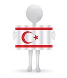 3d man holding a Turkish Cyprus Flag Stock Images