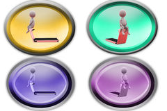 3d man home gym icon Royalty Free Stock Photo