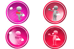 3d man home in hand icon Royalty Free Stock Photos